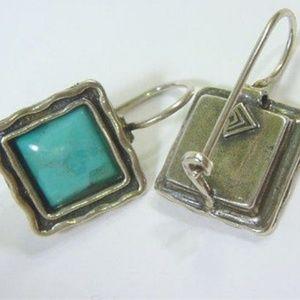 Silpada turquoise &  925 silver earings